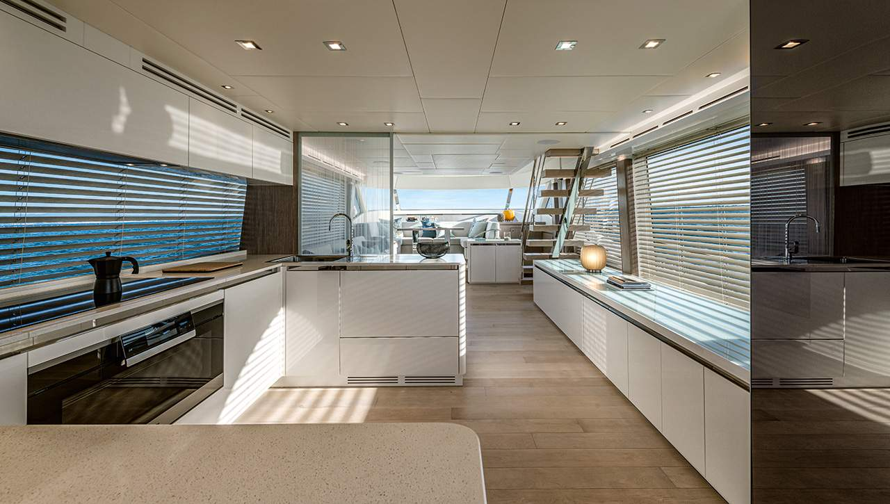 MCY 76 Skylounge Galley