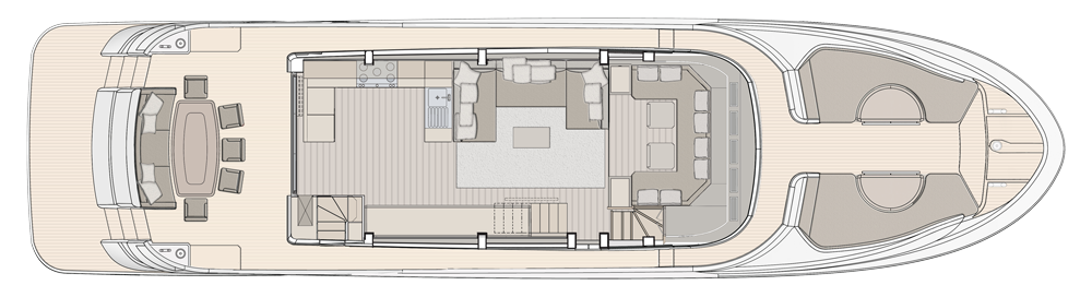 Main Deck - Proposal with galley located aft