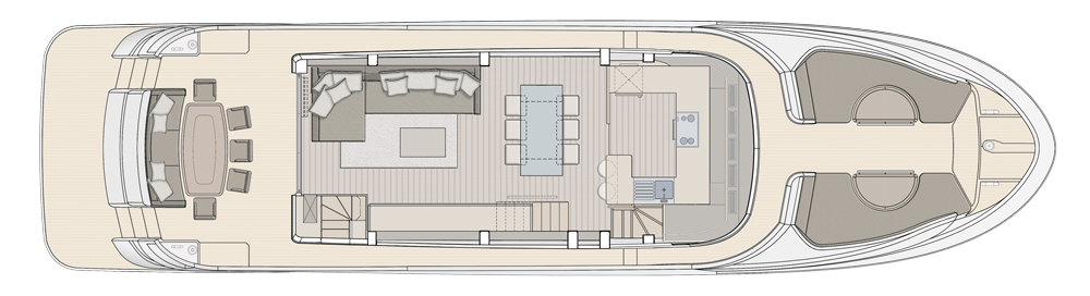 Main Deck - Proposal with galley located forward